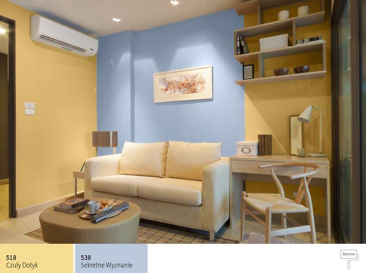 Kontrastowe kolory do salonu