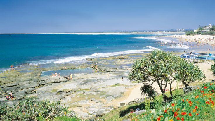 Kings Beach,Caloundra, Sunshine Coast, QLD. © Tourism Queensland #Australia #Travel #Tourism