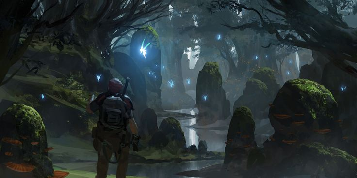 Secret Grove, Ryan Gitter on ArtStation at http://www.artstation.com/artwork/secret-grove