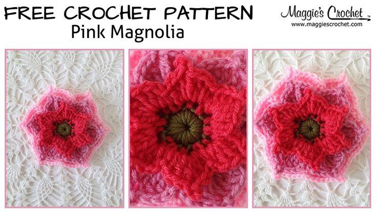 Pink Magnolia Free Crochet Pattern - Right Handed Pink ...