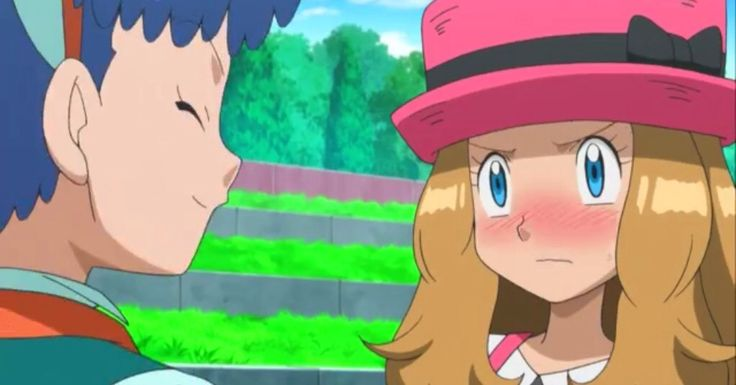 Miette telling Serena to confess to Ash about her feelings or she will.  Miette is the only character in XY to date to know of Serena's feelings for Ash. Amourshipping