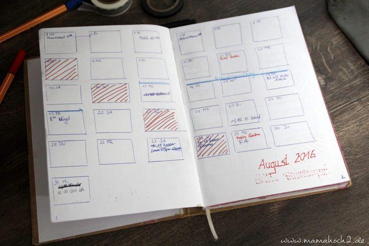 organizer-selber-machen-bullet-journal-terminplaner-diy- monatsübersicht