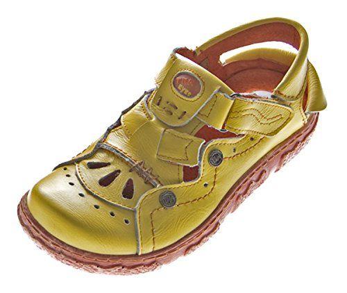 Leder Damen Sandaletten Schuhe Gelb Sandalen Gr. 37 - http://on-line-kaufen.de/tma/37-eu-leder-sandalen-damen-sandaletten-comfort-2