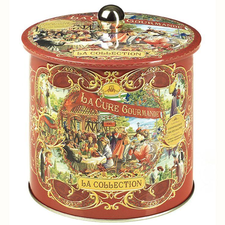 Boîte à biscuits Métal Oval Rouge – Commandez | Collection Rouge