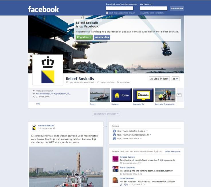 Een social media strategie voor Boskalis op Facebook