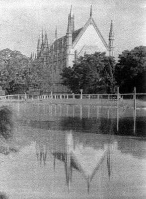 Wilson Hall across the lake