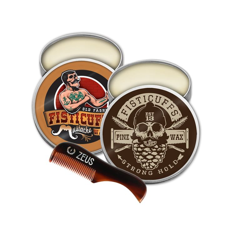 Grave Before Shave Fisticuffs Stronghold + Pine Mustache Wax Pack