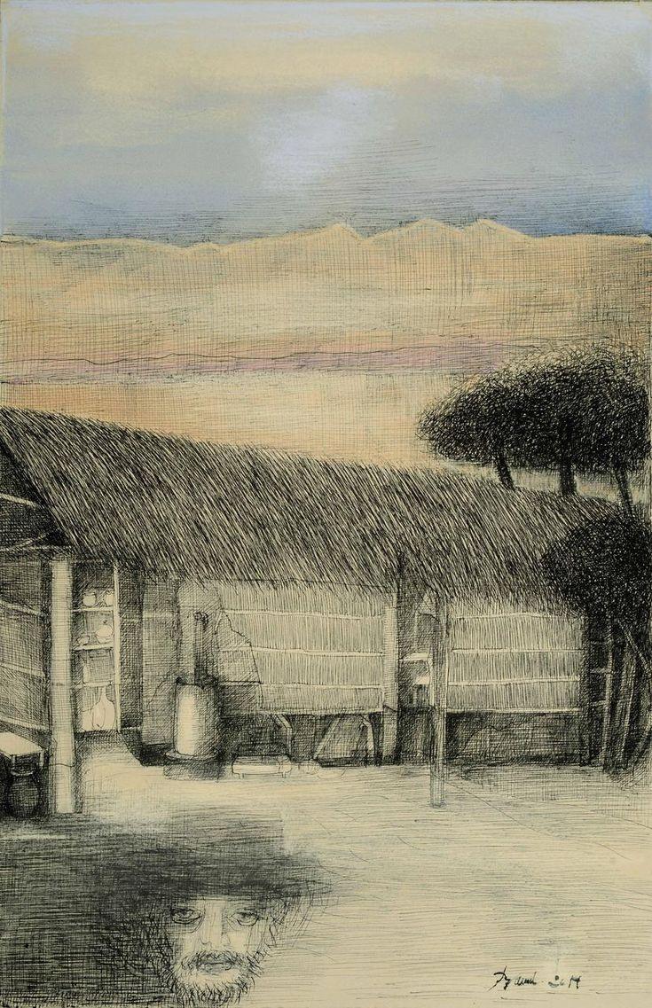 MARTÍN FIERRO, Al dirme dejé la hacienda que era todito mi haber,  Artista Rosenell Baud.