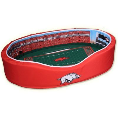 Arkansas Razorbacks Medium Football Stadium Pet Bed