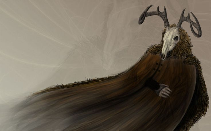 """ARAWN (Welsh) He was the King of the Underworld. His name means """"silver-tongued"""". """"King of Hell"""", """"God of Annwn"""" He fought in the Battle of the Trees (Cad Goddeu) with Bran against Amathaon and Gwyddion. Arawn, like most Otherworld Gods, was a master hunter who rode a pale horse and rode with a pack of white hounds with red ears. The archetypal purpose of the hunt was to gather souls for the Otherworld if the quarry was not smart enough to evade the chase.Arawn Doodle by *Supaslim on…"""