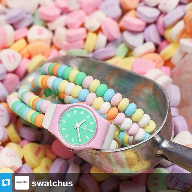 The new watch at Las Vegas' new Swatch store is nothing but sweet!