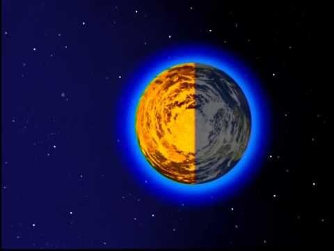 Superbe vidéo sur la terre dans l'espace et les saisons.