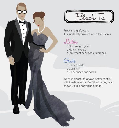 decoding dress code black tie