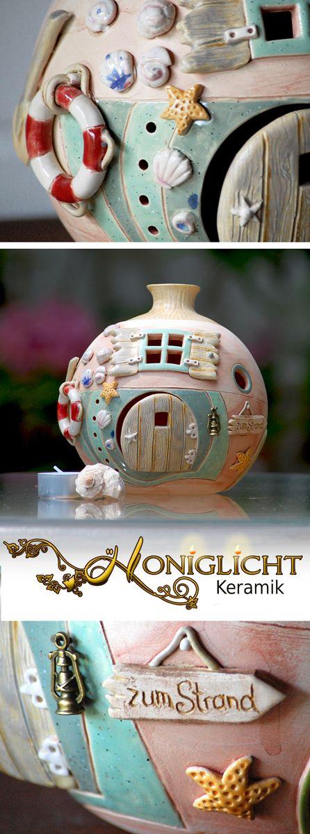 Keramik Windlicht von Honiglicht-Keramik
