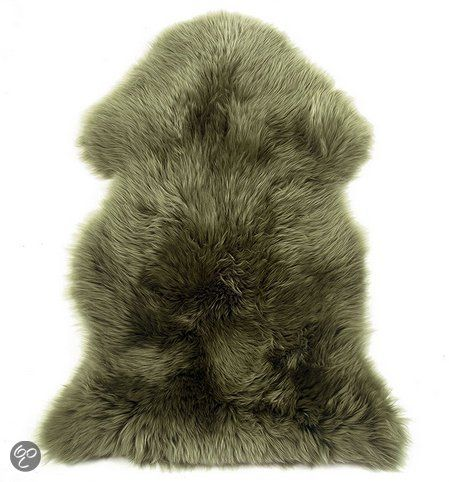 Australisch schapenvacht - Wol - 60 x 90 cm - Groen