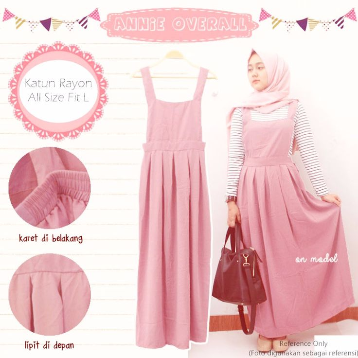 Baju Atasan Jumpsuit Annie Overall Pink - http://bit.ly/2iIdPBr