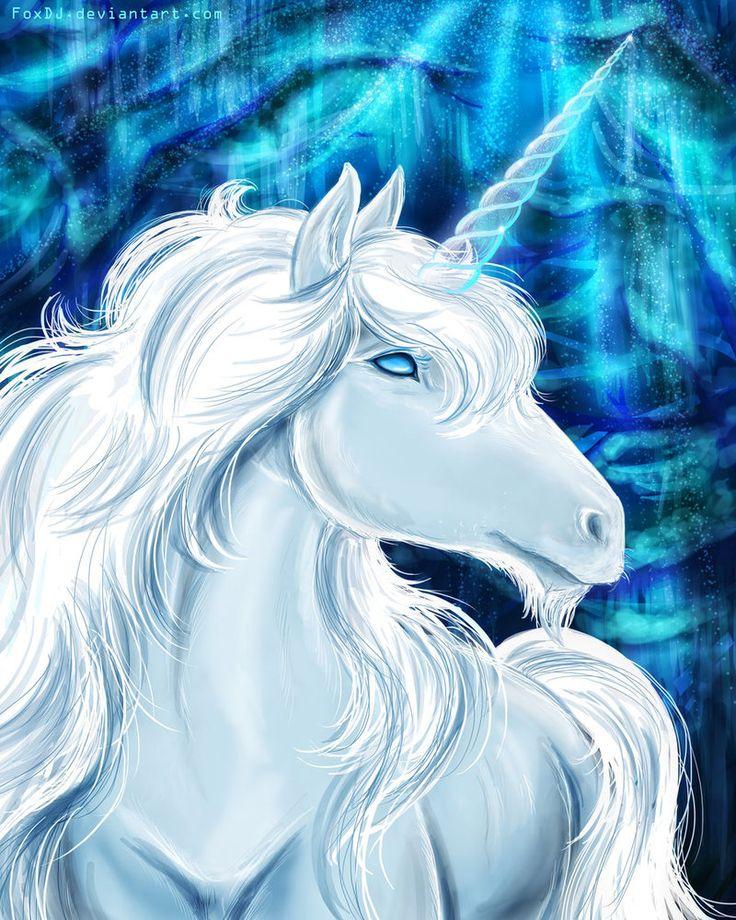 White unicorn by FoxDJ on deviantART