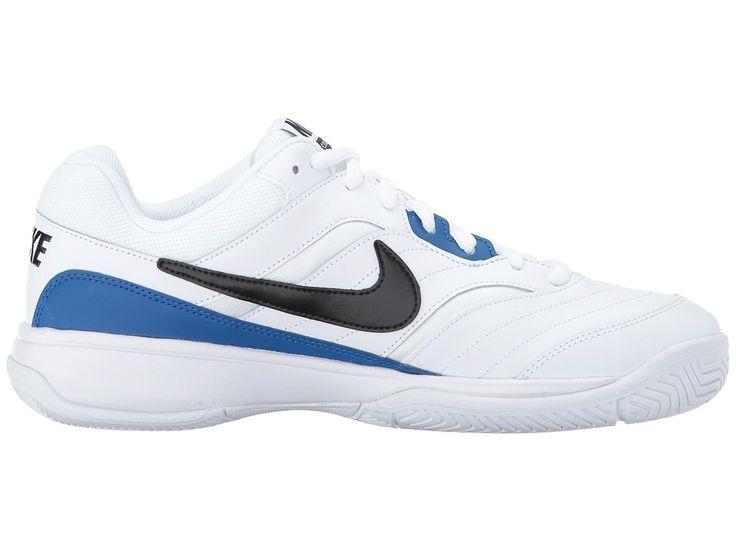 Nike Court Lite Men's Tennis Shoes White/Black/Blue Jay