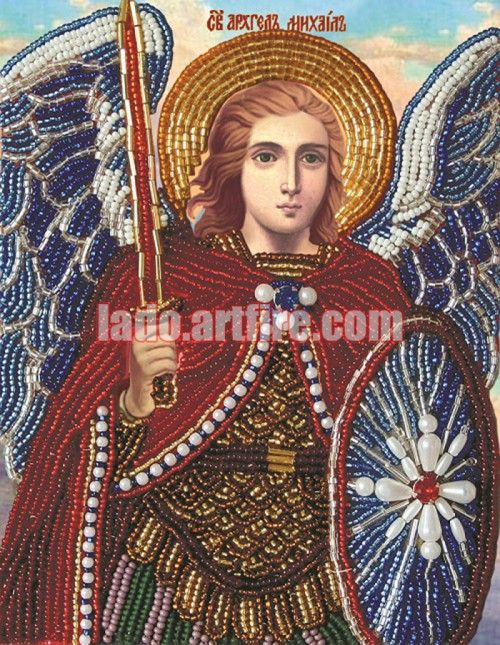 Softening Of Evil Hearts (Semistrelnaya) icon DIY beaded embroidery