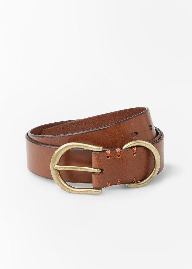 Leather belt ring