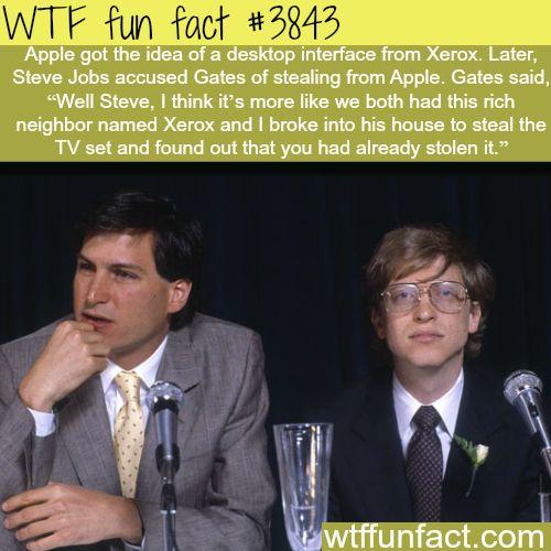 Steve Jobs and Bill Gates - WTF fun facts