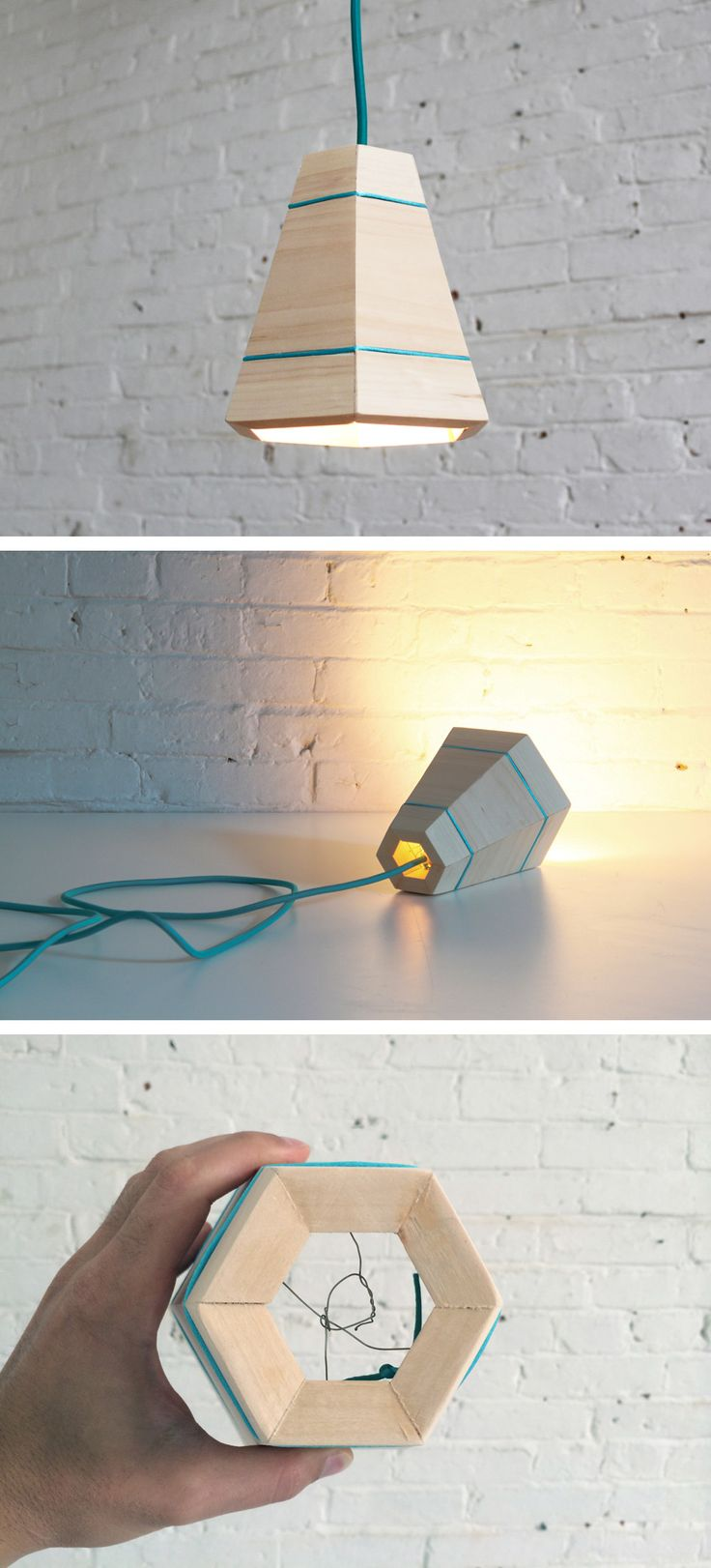 You can use scrap pieces of pine wood to make this pendant lamp. Check out the website for instructions: http://www.homemade-modern.com/ep42-wood-pendant-lamp/