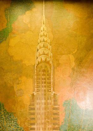Chrysler Building Photos: Chrysler Building Ceiling Mural by Edward Trumbull