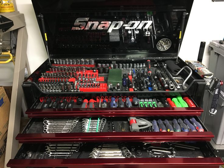 Snap on tool collection and box