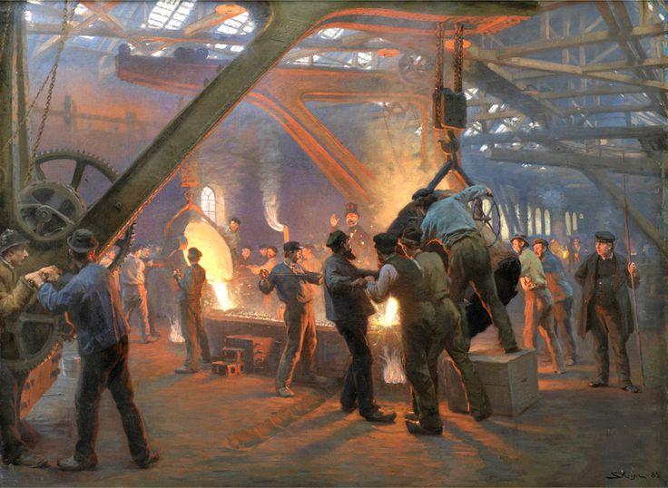 Iron Foundry by Peder Severin Krøyer