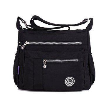 Women Nylon Light Bags Casual Waterproof Shoulder Bags Outdoor Travel Crossbody - US$21.99