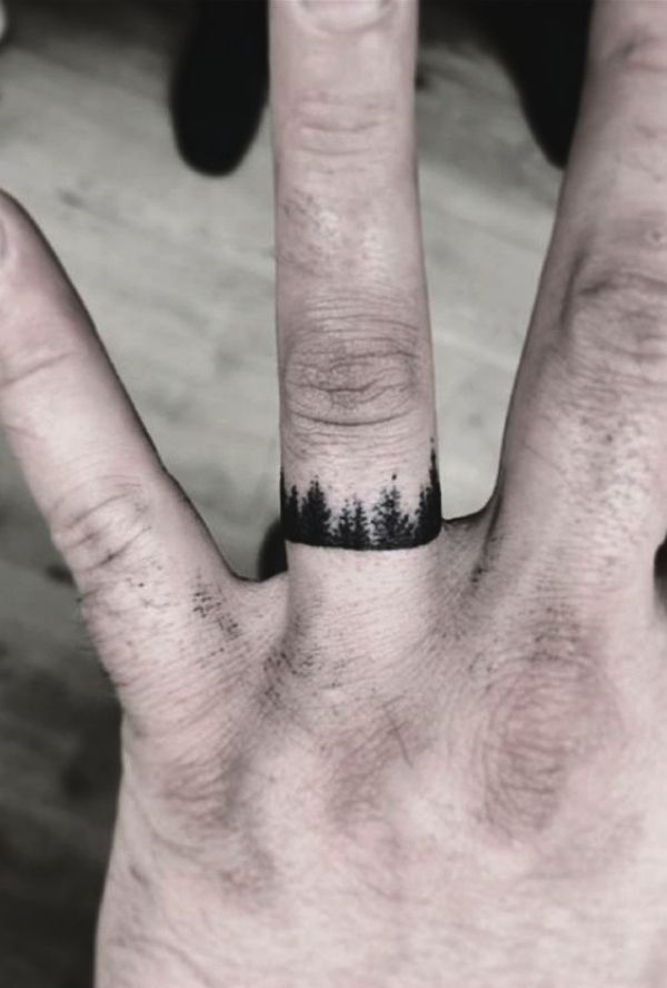 55 Small Tattoo Designs For Men With Deep Meanings Ring Finger