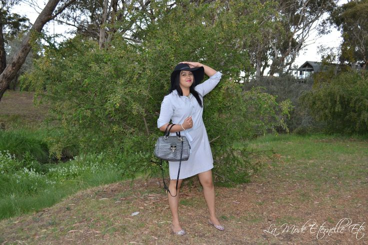 #denimdress #springstyle #springinspirationstyle #spring #floppyhat  http://lamodeeternelleetc.blogspot.com.au/2015/10/the-quintessential-denim-shirt-dress.html