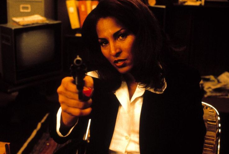 Pam Grier in Jackie Brown directed by Quentin Tarantino, 1997