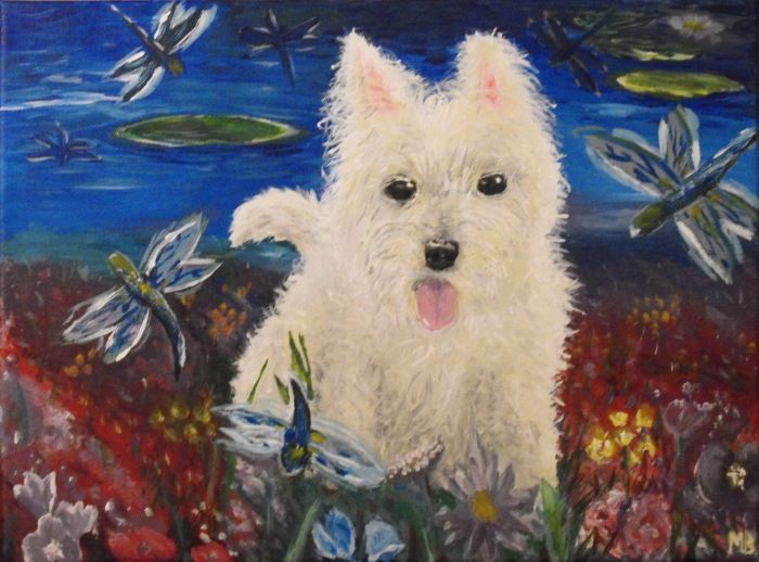 West Highland Terrier #dog #dogs #westie #painting