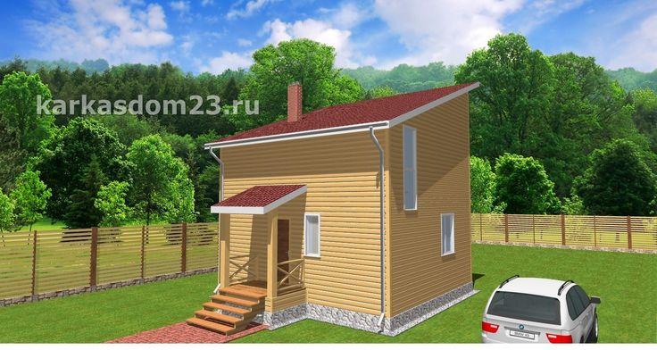 Размер дома 7200 х 6600 Общая площадь 81,6 м², Жилая площадь 51,8 м². 1-й этаж высота потолка 2,9 м., 2-й этаж полумансардный: Высота потолка 1,8 – 2,7 м. (с/у 5,4м²); высота потолока - 2,7 м. (комната 20,3 м²; гардеробная 5,2 м².)