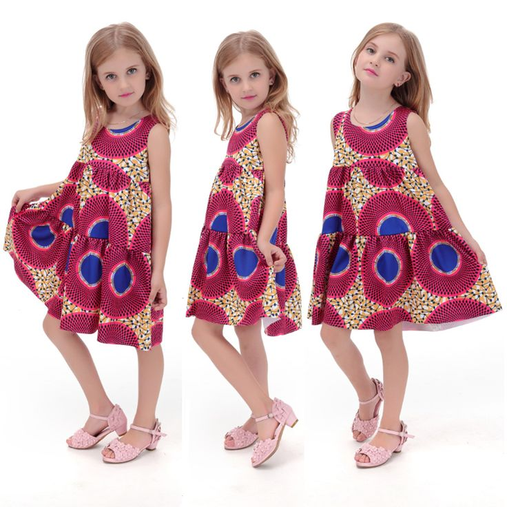 Women African Clothing Dresses Clothing Traditional Special Offer Spandex Girls Robe Africaine New Printing Children Clothes