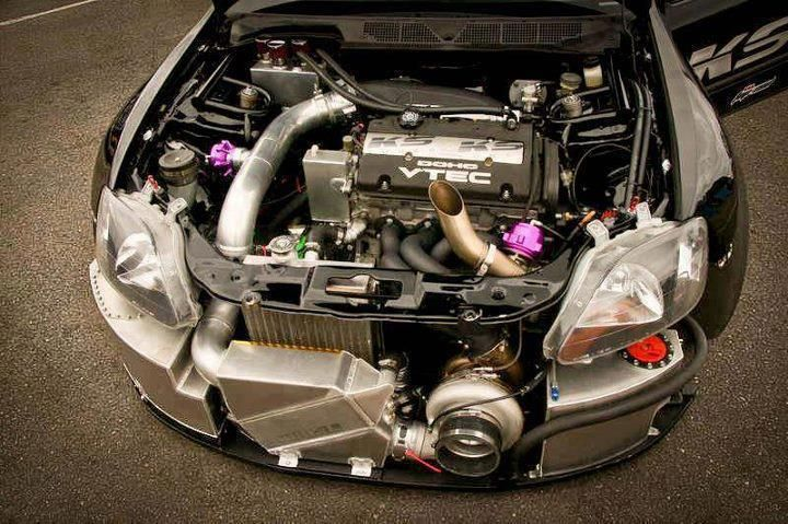 Talk about effective use of space    #h22 #vtec #turbo