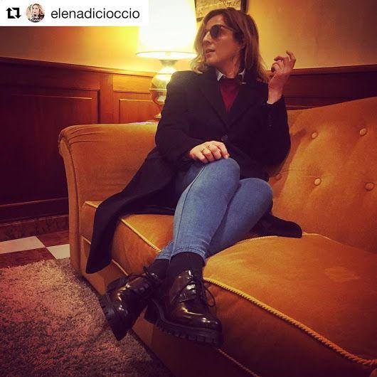 Beautiful Elena wearing #Stokton #FabioSfienti #shoes #madeinitaly #elenadici...