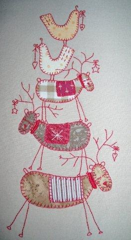 Dragonfly-Crafts: Scandinavian Christmas Block 1 (Part Completed