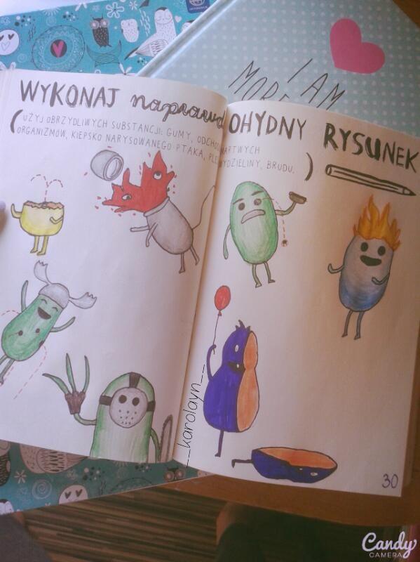 Podesłała Karolina Piaścik #zniszcztendziennikwszedzie #zniszcztendziennik #kerismith #wreckthisjournal #book #ksiazka #KreatywnaDestrukcja #DIY