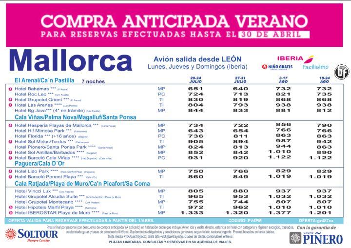 Hasta 30% Compra Anticipada. Hoteles en Mallorca salidas desde León ultimo minuto - http://zocotours.com/hasta-30-compra-anticipada-hoteles-en-mallorca-salidas-desde-leon-ultimo-minuto-2/