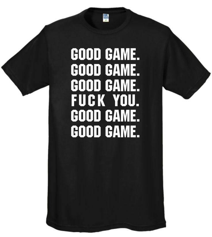 Image of Good Game hockey shirt - Black (Uncensored)