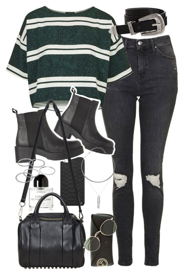 U0026quot;Outfit with black boots and ripped jeansu0026quot; by ferned on Polyvore featuring Topshop GiGi New ...