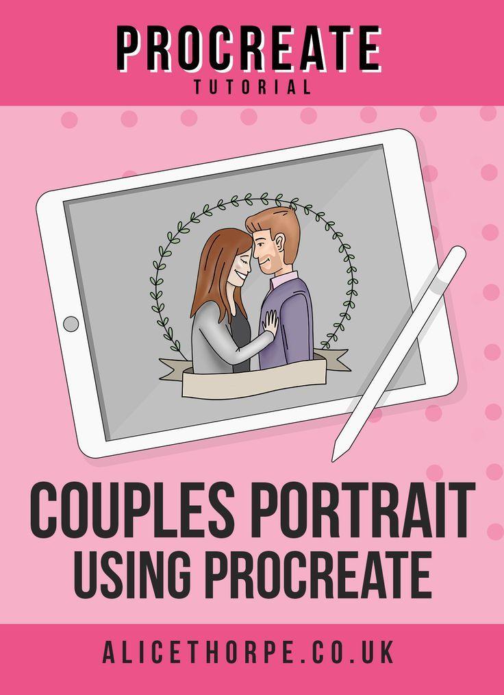 Cartoon Couples Portrait Using Procreate in 2020