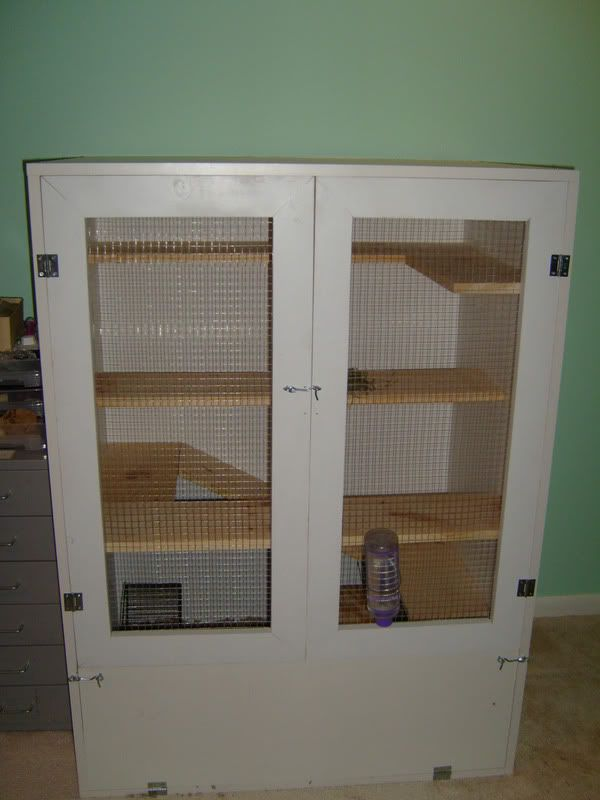 DIY cage for pet rodents -- needs to be modified for guinea pigs (longer, not taller).