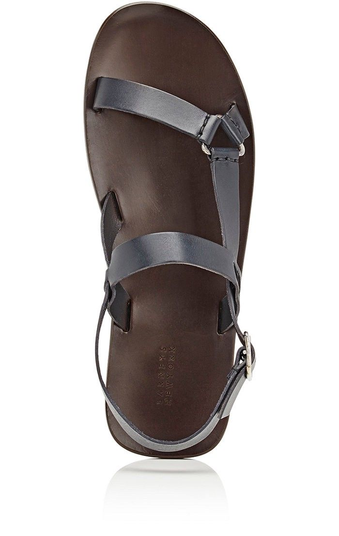 new style 97837 c8ac5 Barneys New York Slingback-Strap Sandals - 8 M Navy