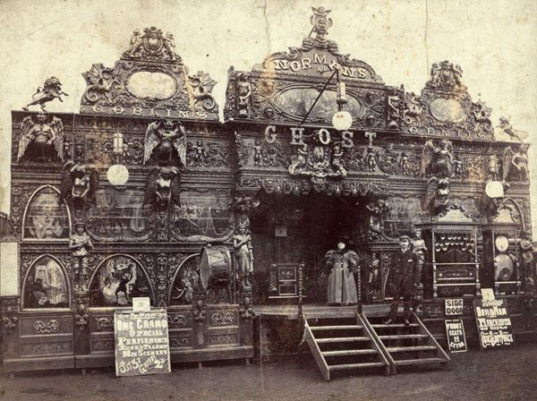 Norman's Ghost Show circa 1900. Vintage Funfair frontage