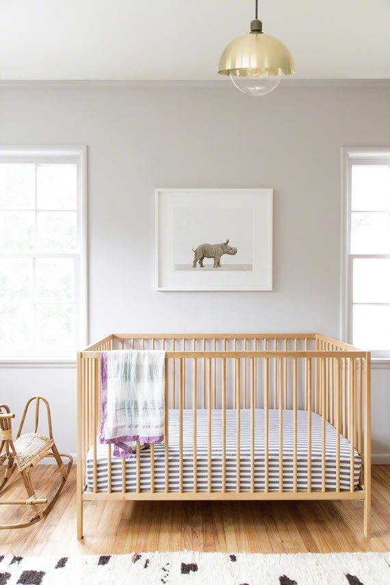 Nursery Design Baby Rhino Artwork By Sharon Montrose Ikea Crib