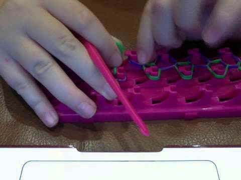 how to make crazy loom bracelet simple