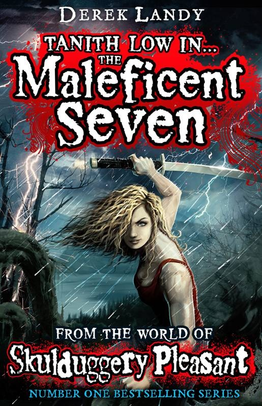 The soon-to-be new story about Tanith Low from the Skulduggery Pleasant series... The Maleficent Seven.